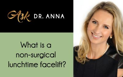 What is a non-surgical lunchtime facelift?